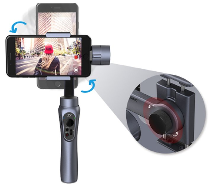 zhiyun smooth q 3 axis gimbal stabilizer for smartphone and action camera. Black Bedroom Furniture Sets. Home Design Ideas